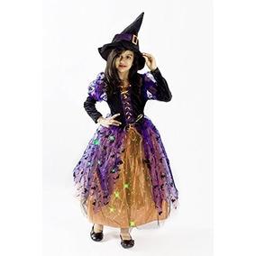 Disfraz De Bruja De Halloween Para Ninas M 6-8
