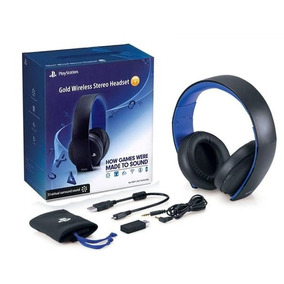 Headset Gold 7.1 Wireless Stereo Sony Ps4 Ps3 Original