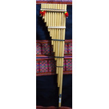 Zampoña Semi-toyo. Instrumento Musical De Viento De Bolivia