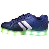 Zapatillas Blancas Negras Azules Con Luces Luz Led(23 Al 33)