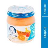 Papilla Gerber Etapa 2 Delicia De Frutas Pack Con 4 Frascos
