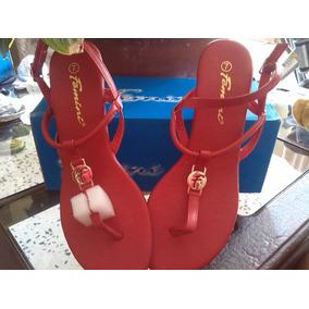 Sandalias Para Damas Femini Tacon Bajo