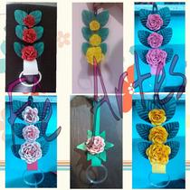 Porta Pano De Prato Com Flores De Eva Artesanal