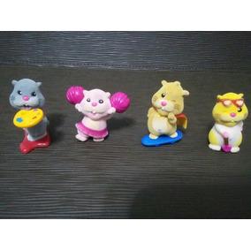 Lote Com 04 Pecas Zhu Zhu Pets Mini Brinquedos Antigos