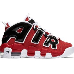 Nike Air More Uptempo Scottie Pippen Baloncesto Tenis Rojos