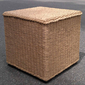 Puff Cubos Tejido Fibra Craft Artesanal