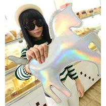 Bolsa Clutch Unicornio Poni Caballo Tornasol