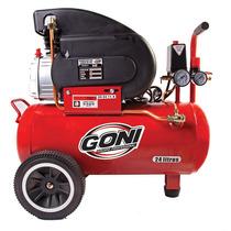 Compresor Goni De 2.5hp. Con Tanque De 28 Lt Mod. 940