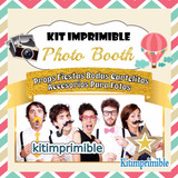 Kit Imprimible Photo Booth Props Fiestas Bodas Carteles