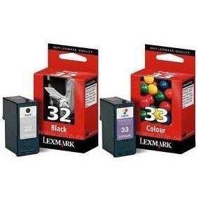 Cartuchos Lexmark 32 Negro Y 33 Color Originales En Combo