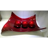 Enfeite Centro De Mesa Em Cerâmica Linha Scarlet Com 3 Bolas
