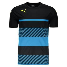 Camiseta Puma Veloce Training Preta E Azul