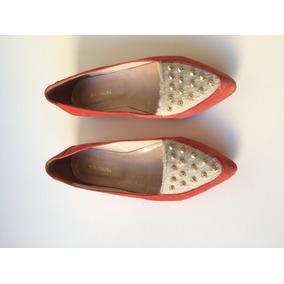 Justa Osadía Zapatos Mocasín Flat Loafer Cuero Y Tachas