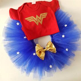 Tutu Pañalero Mujer Maravilla Heroes 3 A 18 M Envio Gratis