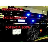 Combo Fm- Procesador De Audio + Excitador 16w + Potencia 300
