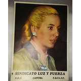 Peronismo Mini Poster Evita Peron Sindicato Luz Y Fuerza