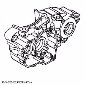Carcaça Motor Honda Crf 250r Até 2009 Lado Esquerdo Original