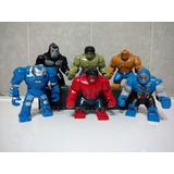 Figuras Hulk, Rhino, Gorilla Grodd, Venom, Compatibles Lego