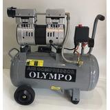 Compresor Olympo S/ Aceite C/tanque Muy Silencioso 25 Litros