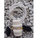 Antena Hf Dipolo P/ 20m Com Isolador Central Inox 20k Tração