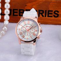 Relógio Feminino Clássico Quartzo Geneva Cores Luxo Lindo