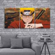 Cuadro Triptico Naruto Shippuden 90x40cm