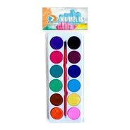 Acuarela Ezco X12 Colores Y Pincel