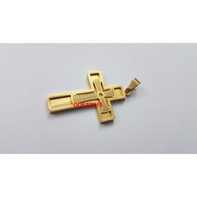 Pingente Masculino Natan Crucifixo Correntes Femininas Ouro - Joias ... de46f5346d