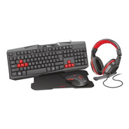 Combo Gamer Trust - Teclado, Mouse Auriculares, Pad
