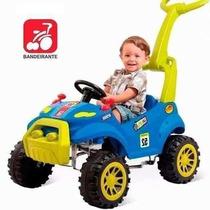 Carrinho Infantil Passeio Bebe Pedal Smart Azul Bandeirante