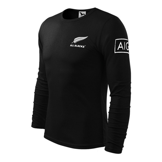 Remera Manga Larga Rugby All Blacks
