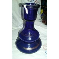 Botellon Vidrio Azul Antiguedad - Decoracion - Vintage