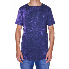 Camiseta Blusa Long Line Estonada Lavada Oversized Masculina