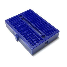 2 Mini Protoboard Breadboard 170 Pontos Furos Pinos Azul