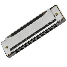 Armonica En Clave C Diatonica Plateada D3039