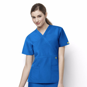 Uniforme Clinico Paramedico Mujer Marca Wonderwink Azulrey