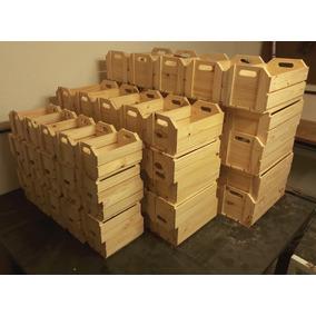 Kit De Caixotes De Madeira Estilo Feira Para Decoração