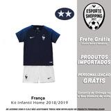 Kit Infantil Seleção França 18 19 Home Uniforme 1 2 Estrelas 558b820c508bc