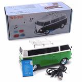 Parlante Portatil Carro Volskwagen Combi Radio Usb Micro Sd