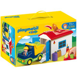1,2,3 Camion Con Garaje Playmobil