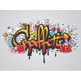 Painel Lona Festa 3,00x1,70mt Graffiti