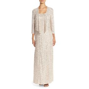 Vestido Renda Longo Casaquinho Madrinha Mãe De Noiva Festa