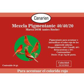 Mezcla De Pigmento Rojo Para Canarios