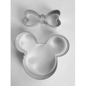 Cortador De Galletas Mickey Y Minnie Mouse