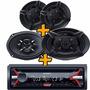 Stereo Sony Cd Mp3 Am/fm Usb Aux Rca + 6x9 450w + 6.5 270w