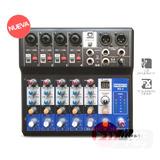 Mixer Proco Bk6 Series De 6 Canales