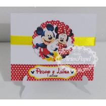 Convite Aniversário Minnie E Mickey Minie 10 Unidades