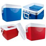 Caixa Térmica Cooler Com Alça 75 Litros Azul Ou Vermelho Mor