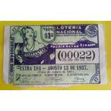 Antiguo Billete De La Lotería Nacional De 1937