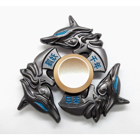 Fidget Hand Spinner Raro Metal Naruto Dragão Lobo Wolf